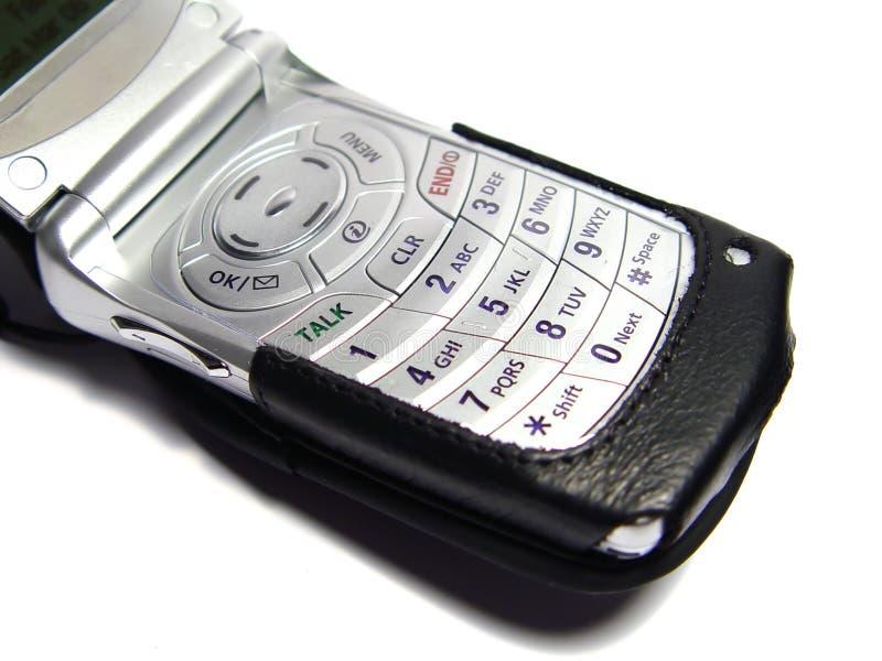 Teléfono móvil con el caso fotos de archivo libres de regalías