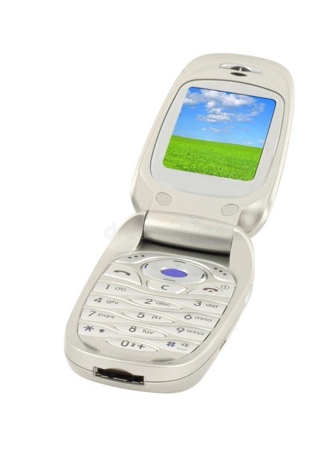 Teléfono móvil con el paisaje #2 fotografía de archivo libre de regalías