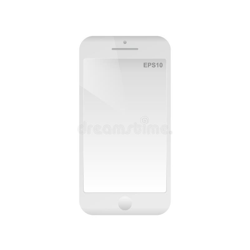 Teléfono móvil con la pantalla vacía Icono abstracto aislado del dispositivo del smartphone Teléfono plano simple moderno libre illustration