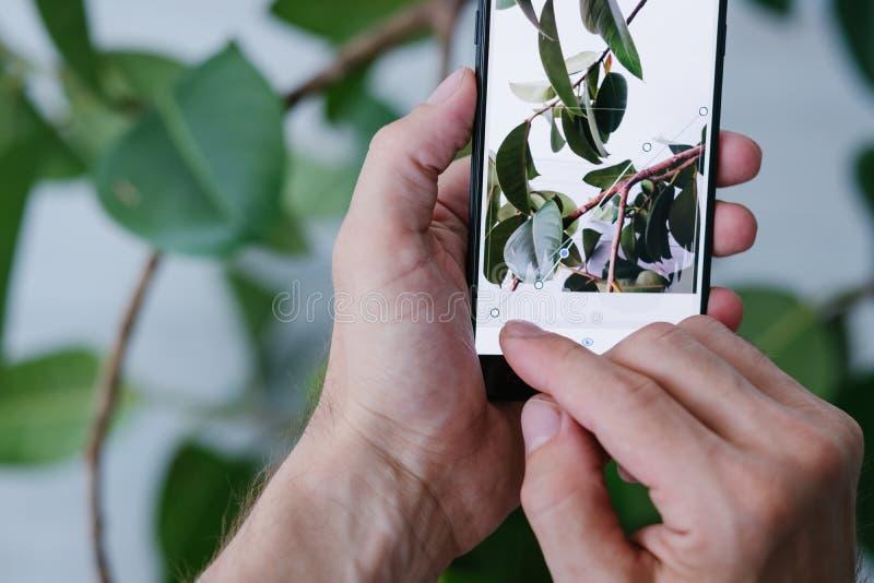 Teléfono móvil de la innovación de la tecnología del arte de la fotografía imagen de archivo