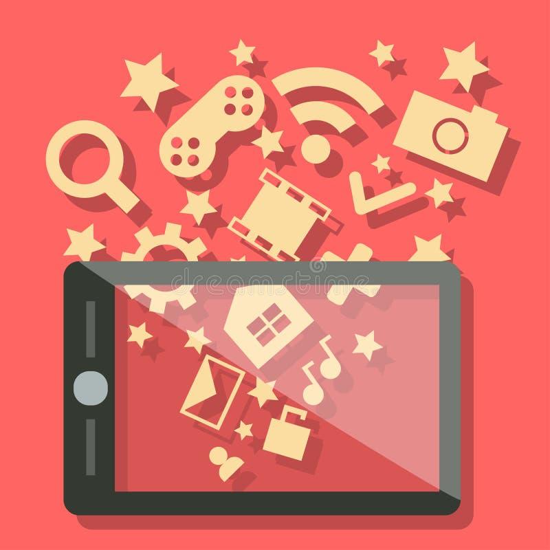 Teléfono móvil de la medios tecnología ilustración del vector