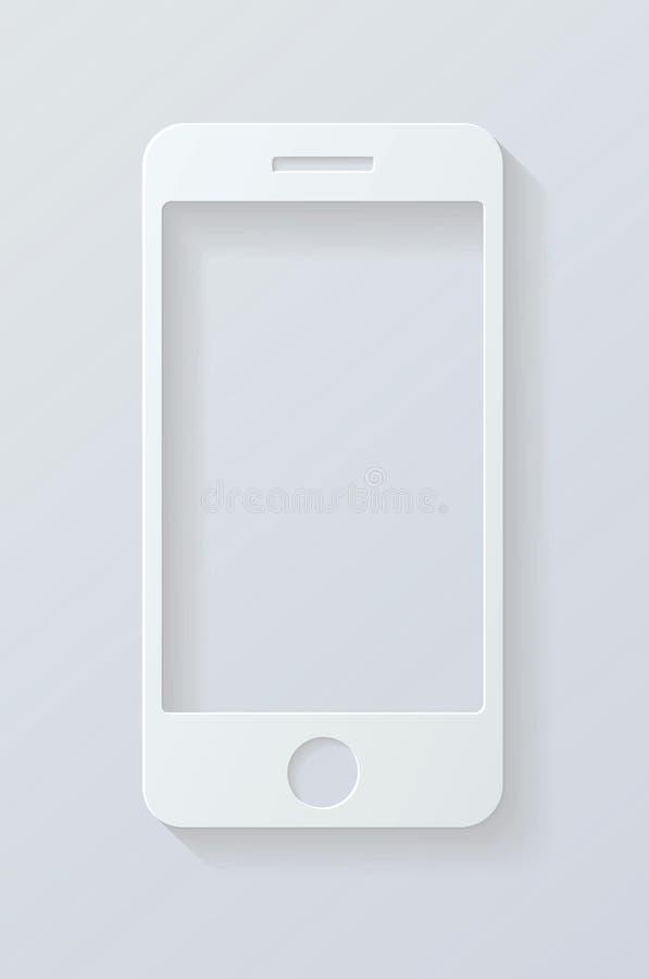 Teléfono móvil del icono ilustración del vector