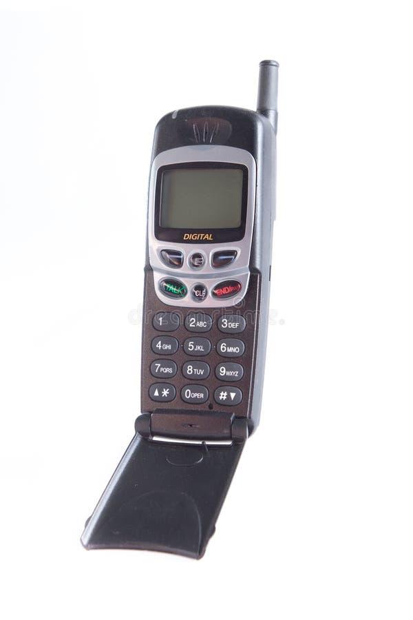 Teléfono móvil del tirón genérico con la pantalla en blanco fotos de archivo