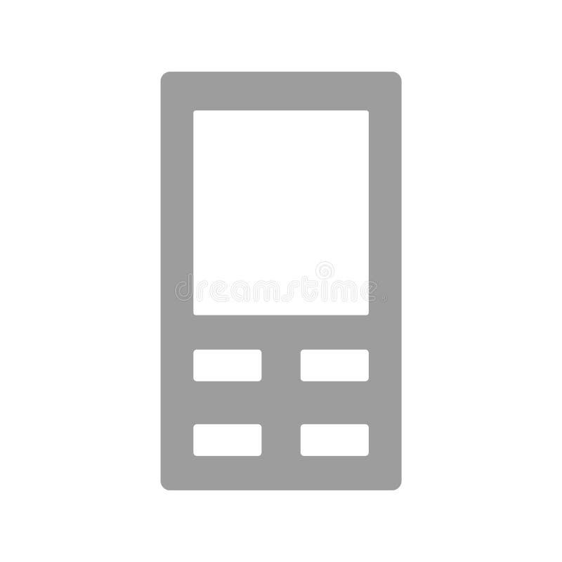 Teléfono móvil gris con el vector eps10 del diseño simple de cuatro botones del menú Muestra del teléfono móvil libre illustration