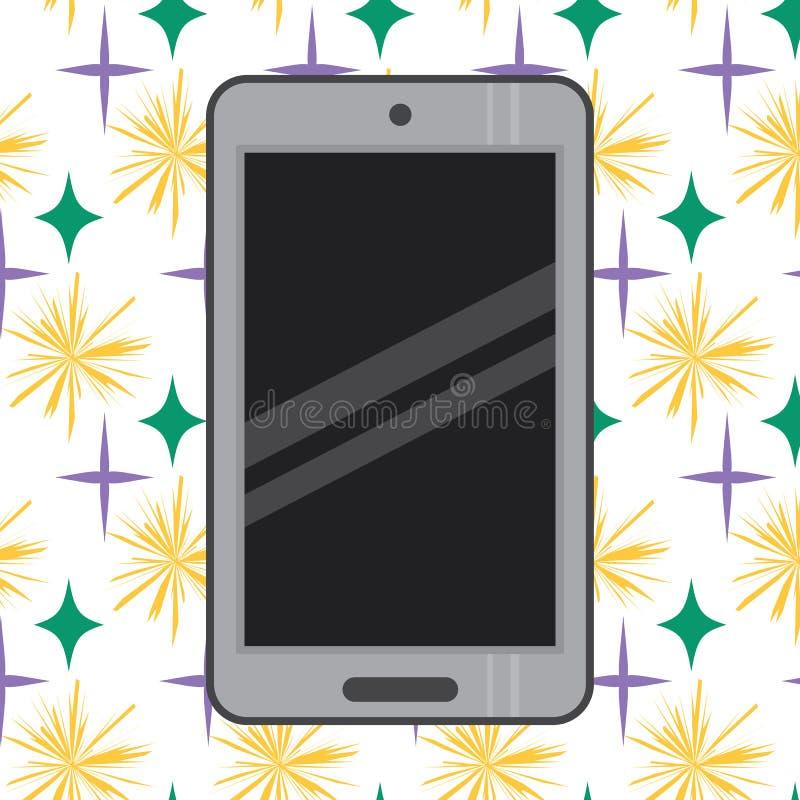 Teléfono móvil gris con el vector negro eps10 de la pantalla Logotipo de Smartphone Smartphone clásico del estilo Logotipo o mues stock de ilustración