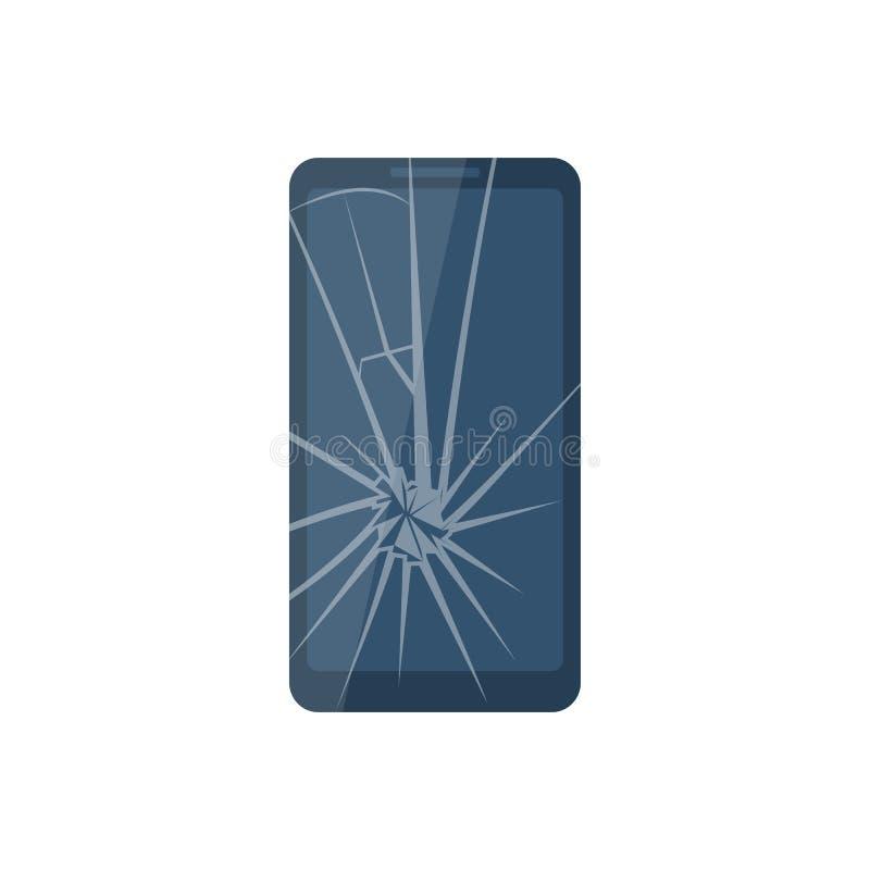 Teléfono móvil quebrado libre illustration