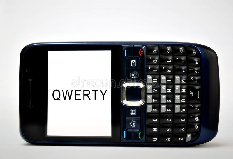 Teléfono móvil QWERTY fotografía de archivo