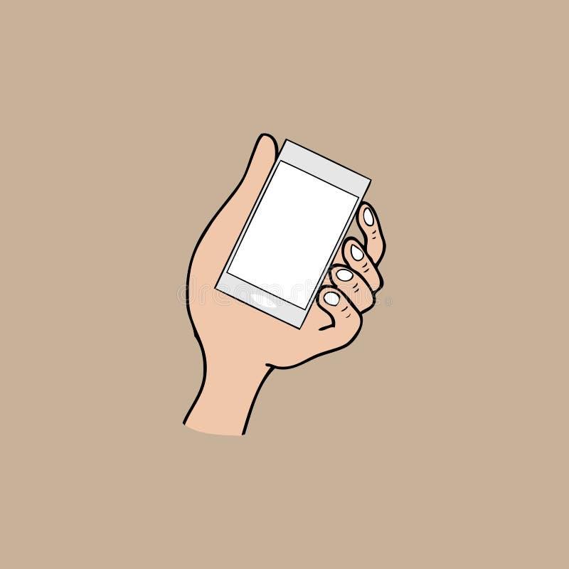 Teléfono móvil y mano libre illustration