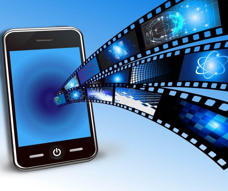 Teléfono móvil y películas libre illustration