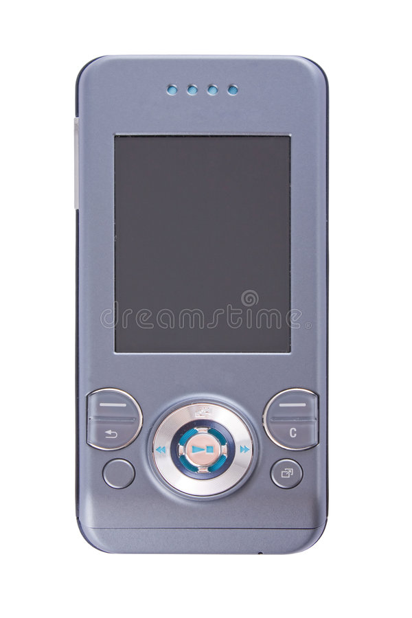 Teléfono moderno cerrado de los multimedia imagenes de archivo