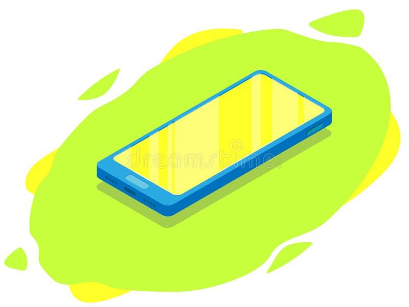 Teléfono moderno isométrico Mofa encima del móvil libre illustration
