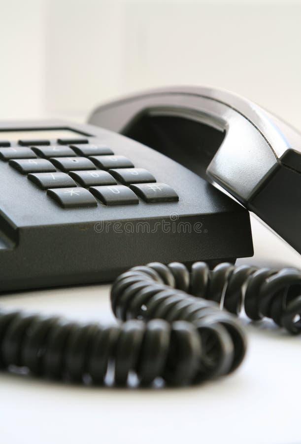 Teléfono negro imágenes de archivo libres de regalías