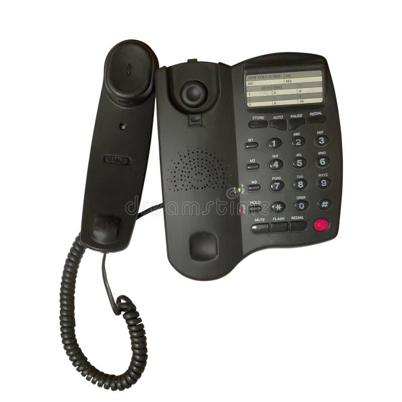 Teléfono negro de la oficina imágenes de archivo libres de regalías