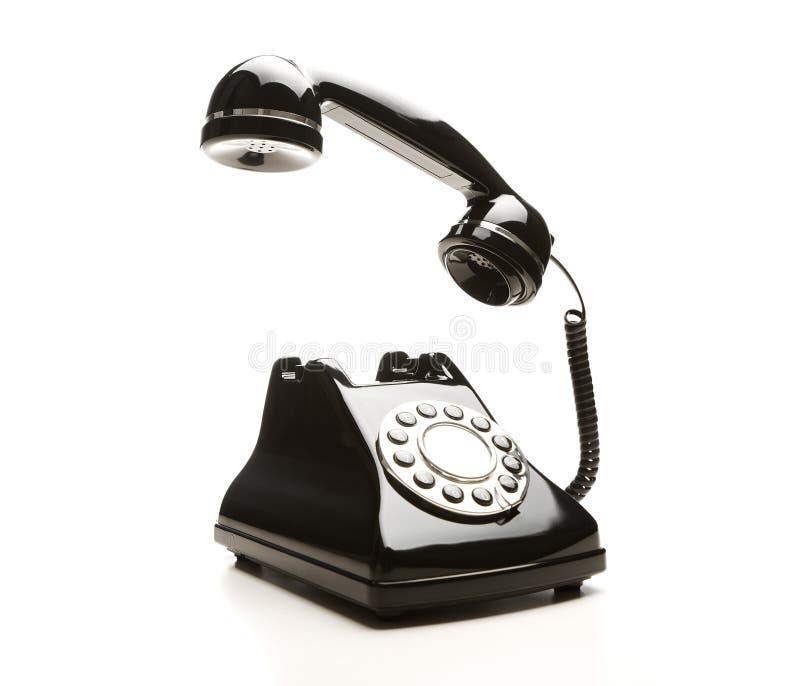 Teléfono negro de la vendimia fotos de archivo libres de regalías