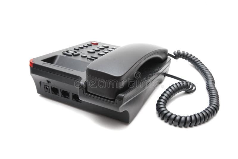 Teléfono negro del IP aislado imagenes de archivo