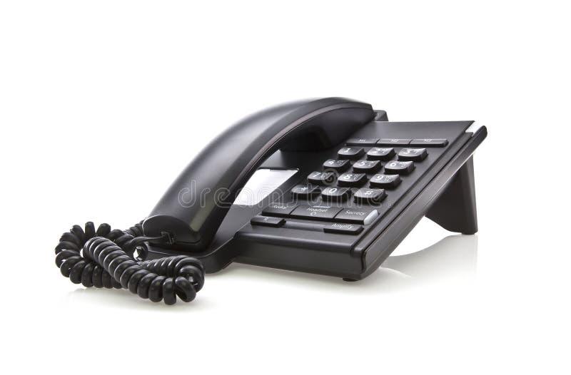 Teléfono negro moderno fotografía de archivo libre de regalías