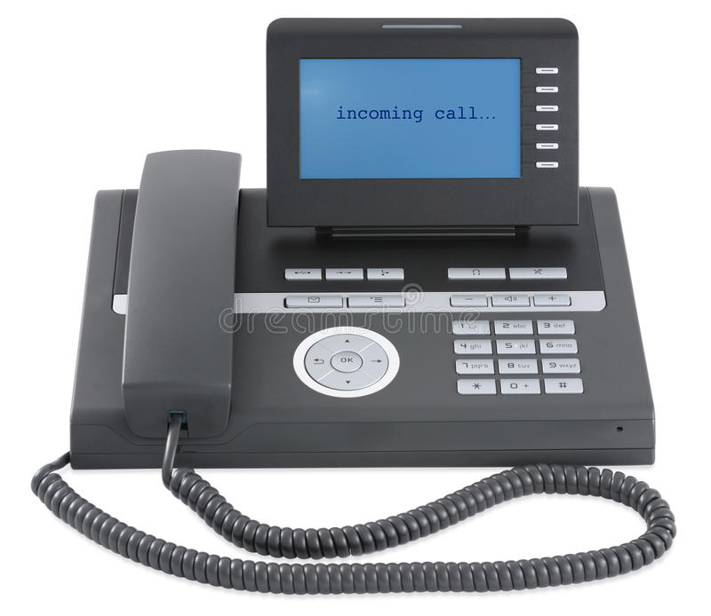 Tel fono negro moderno de la oficina de asunto imagen de for Telefono de oficinas