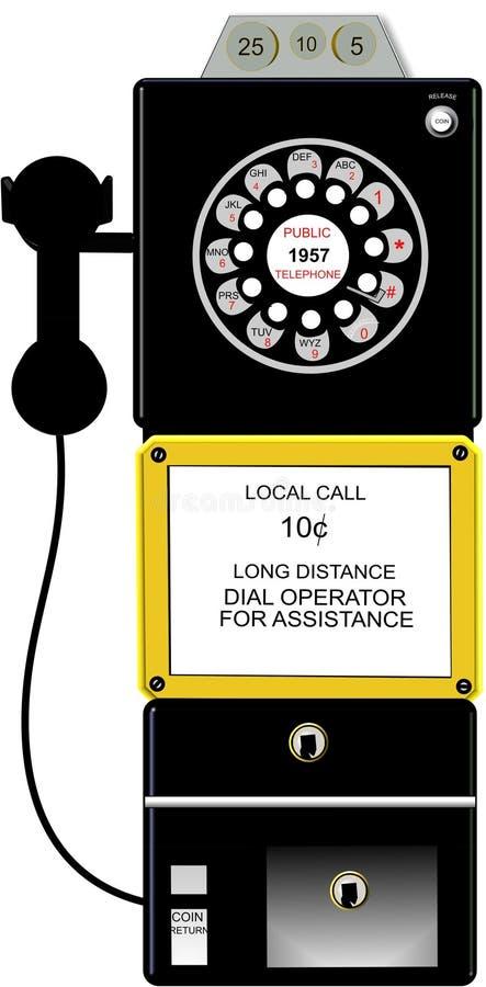 teléfono público 3d en blanco libre illustration