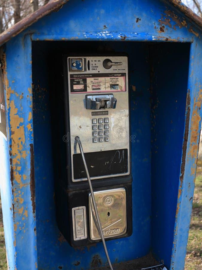 Teléfono público de Verizon imagenes de archivo