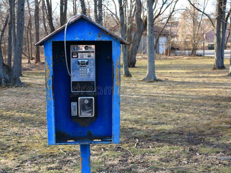 Teléfono público de Verizon fotos de archivo libres de regalías