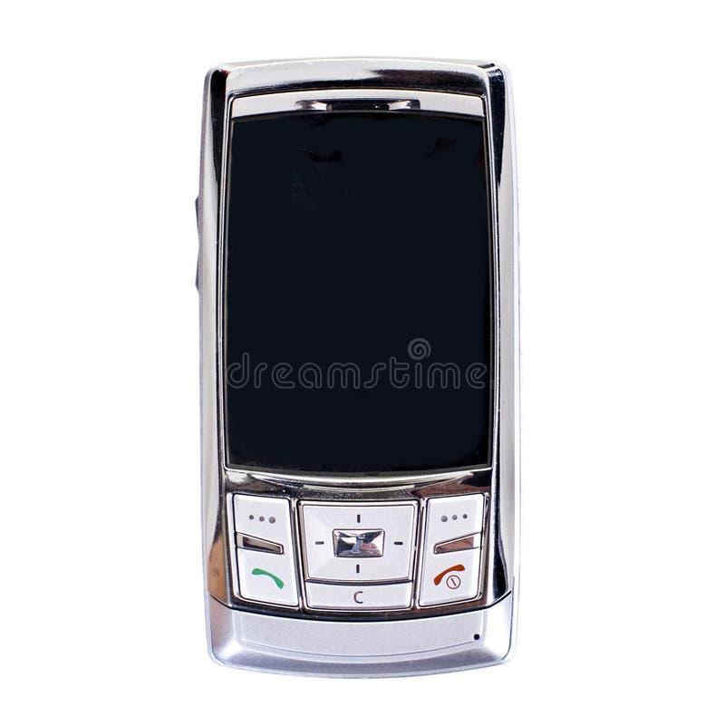 Teléfono portátil plateado imagen de archivo