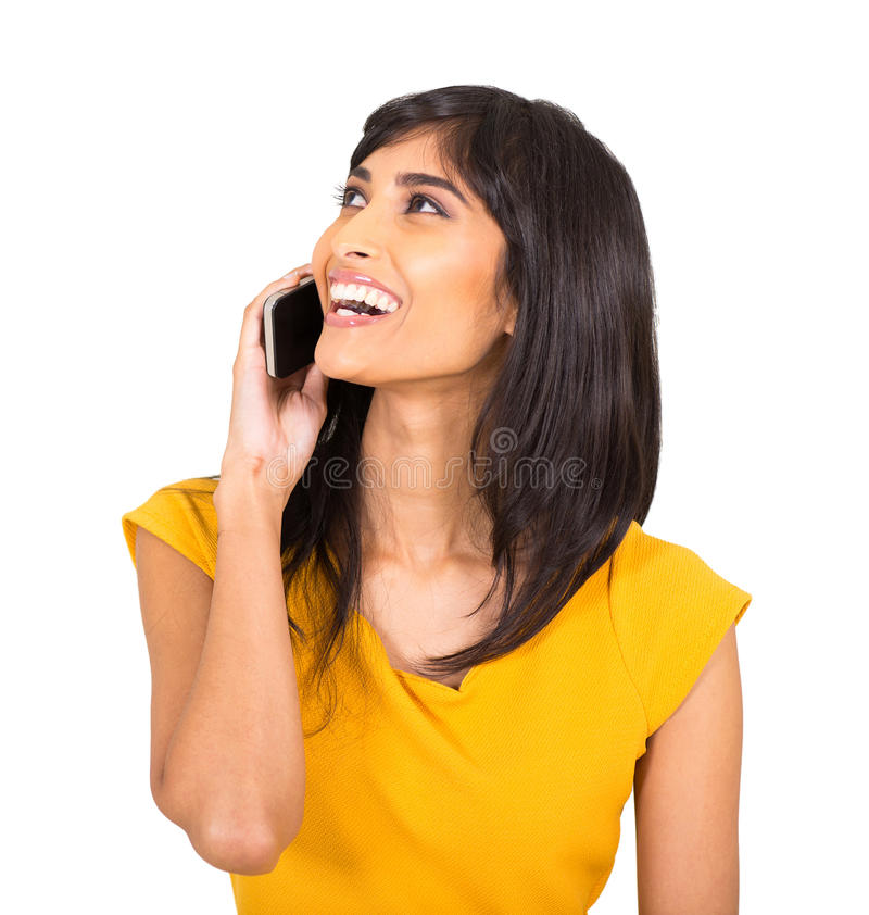 Download Teléfono Que Habla De La Mujer India Imagen de archivo - Imagen de adulto, alegre: 42425483