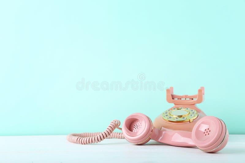 Teléfono retro foto de archivo libre de regalías