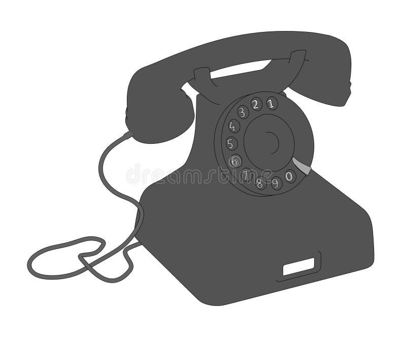 Teléfono retro libre illustration