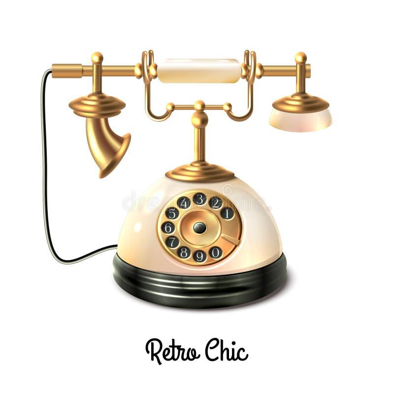 Teléfono retro del estilo ilustración del vector