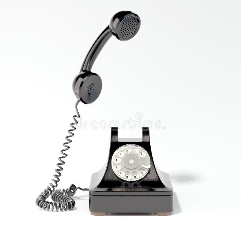 Teléfono retro negro representación 3d fotografía de archivo libre de regalías