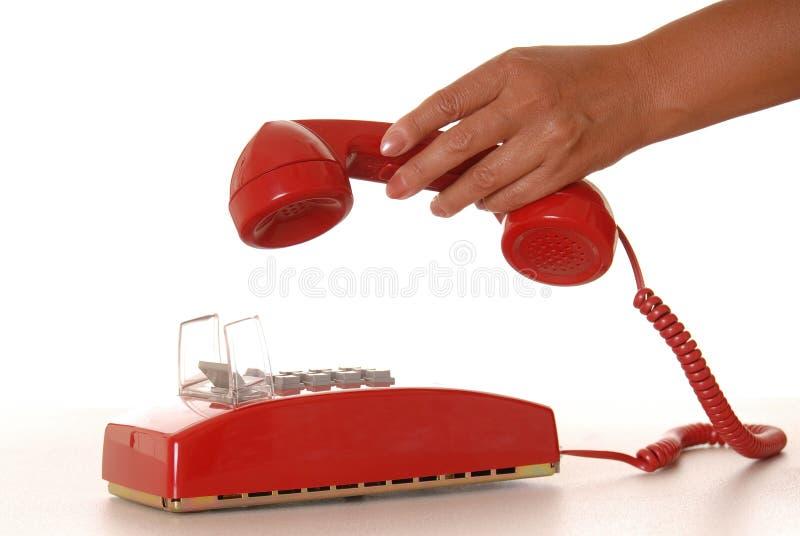 Teléfono rojo 6 imagenes de archivo
