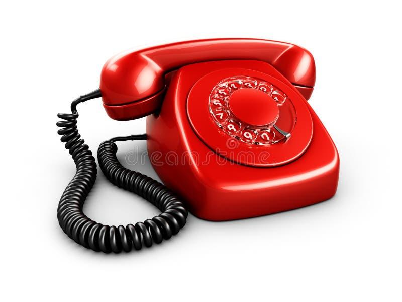 Teléfono rotatorio de la vendimia ilustración del vector
