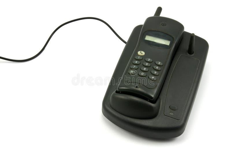 teléfono sin cuerda viejo imagenes de archivo