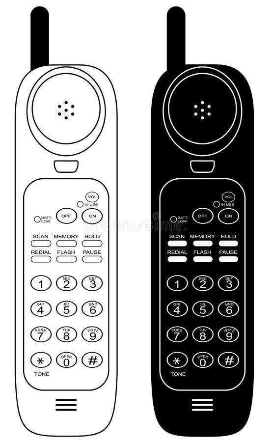 Teléfono sin hilos. stock de ilustración