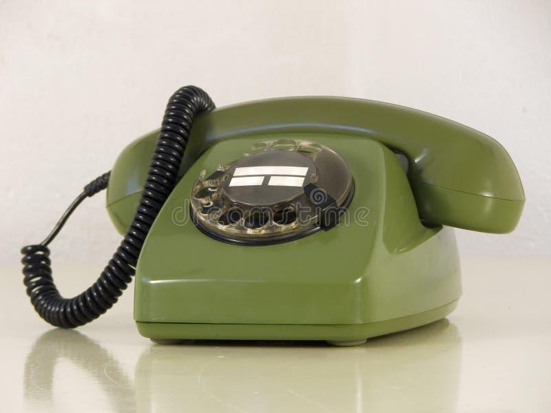 Teléfono verde fotografía de archivo