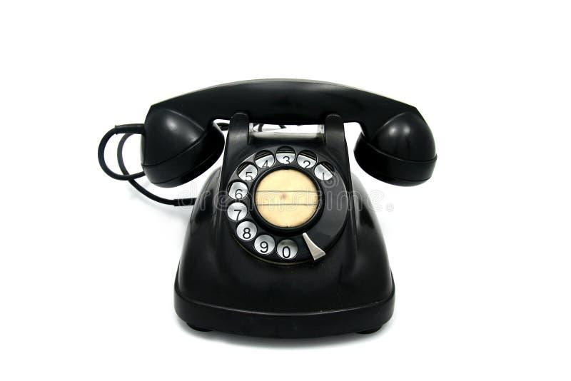 Teléfono viejo con el dial rotatorio fotos de archivo