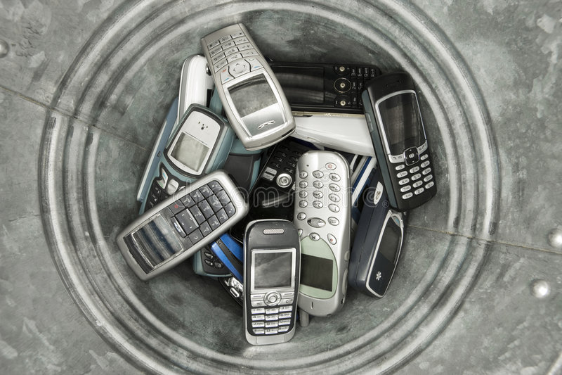 Teléfonos celulares de Abjected foto de archivo