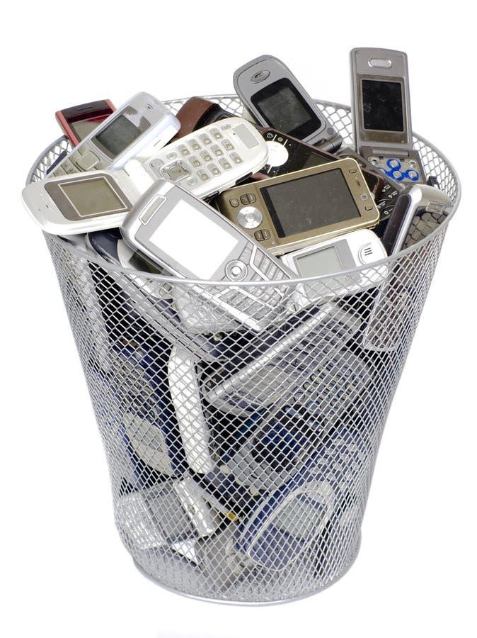Teléfonos celulares viejos imagen de archivo