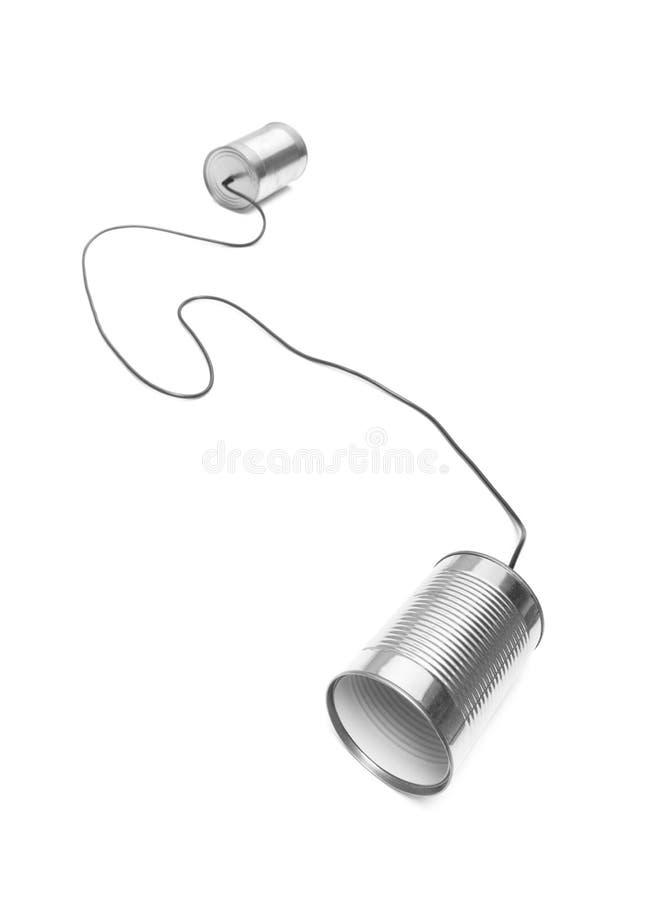 Teléfonos de la poder de estaño fotografía de archivo