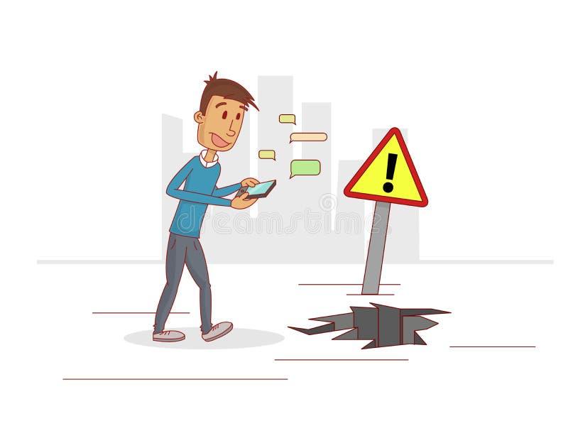 Teléfonos de los problemas ilustración del vector