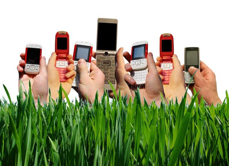 Teléfonos móviles fotografía de archivo libre de regalías