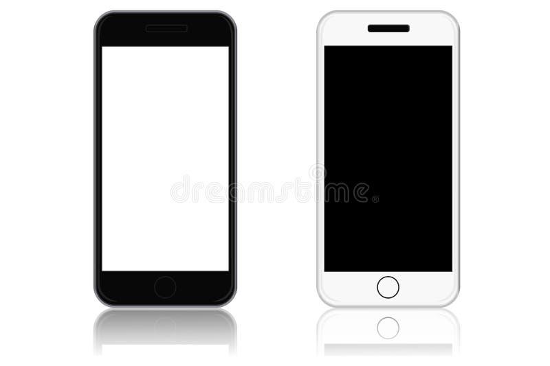 Teléfonos modernos de la pantalla táctil, ejemplo del vector stock de ilustración