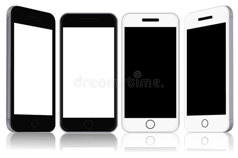 Teléfonos modernos de la pantalla táctil, ejemplo del vector libre illustration