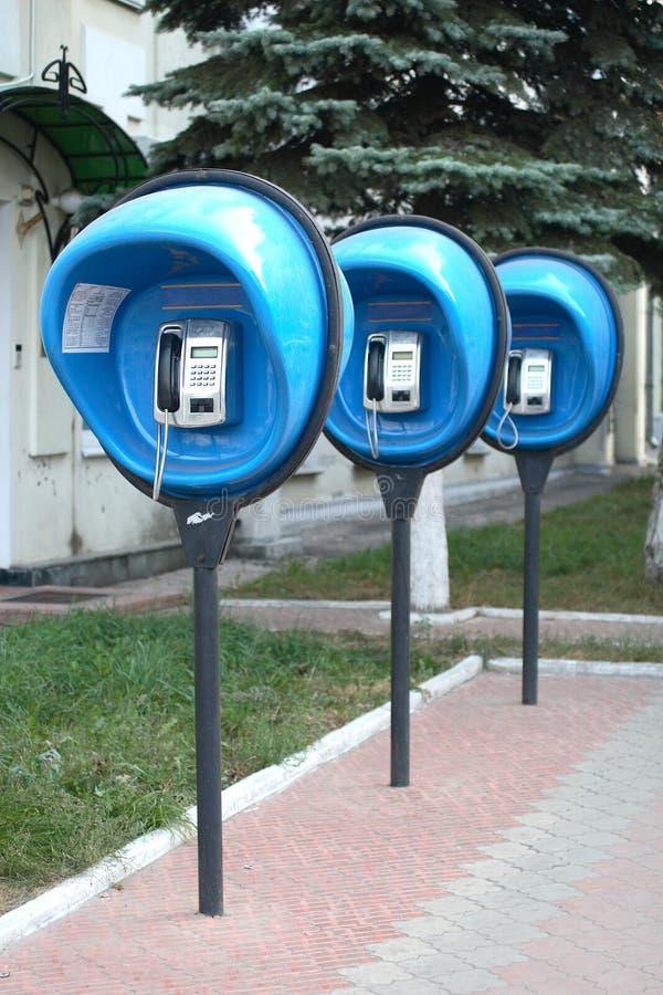 Teléfonos públicos fotos de archivo libres de regalías