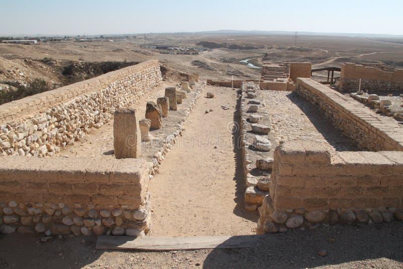 Tel啤酒舍瓦国家公园废墟,以色列 免版税图库摄影