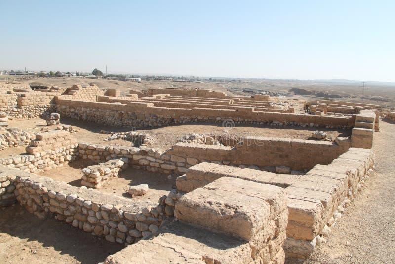 Tel啤酒舍瓦废墟,以色列 免版税库存照片