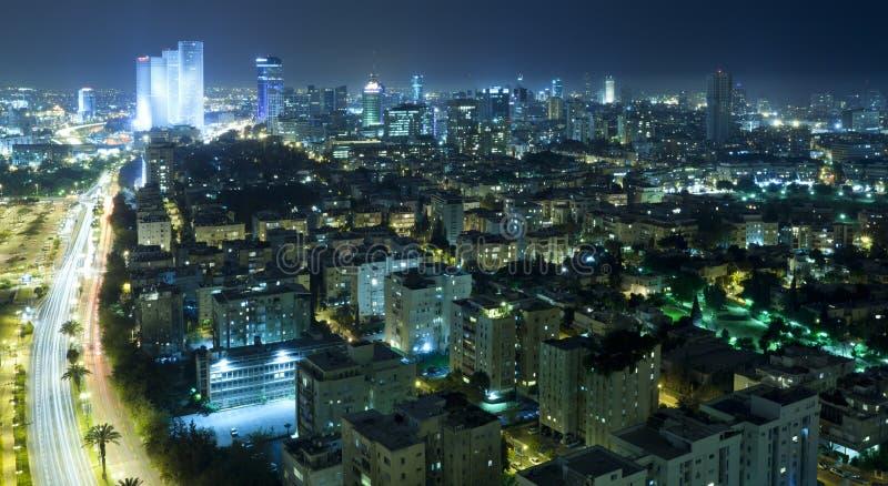 tel горизонта ночи aviv стоковая фотография rf