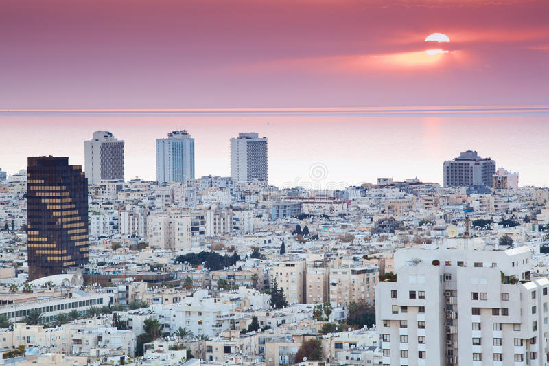 tel горизонта aviv стоковое изображение rf
