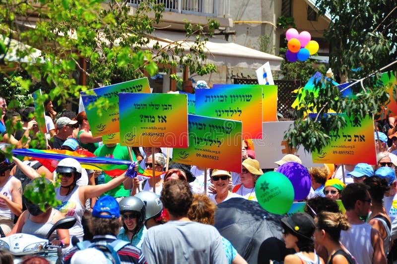 Tel Aviv 2010 Gay Parade stock photos