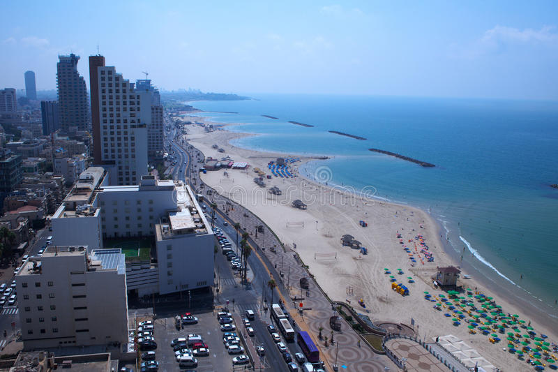 Tel aviv beach royalty free stock images